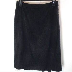 MaxMara Skirt Wool Angora Blend Stripe Size 4